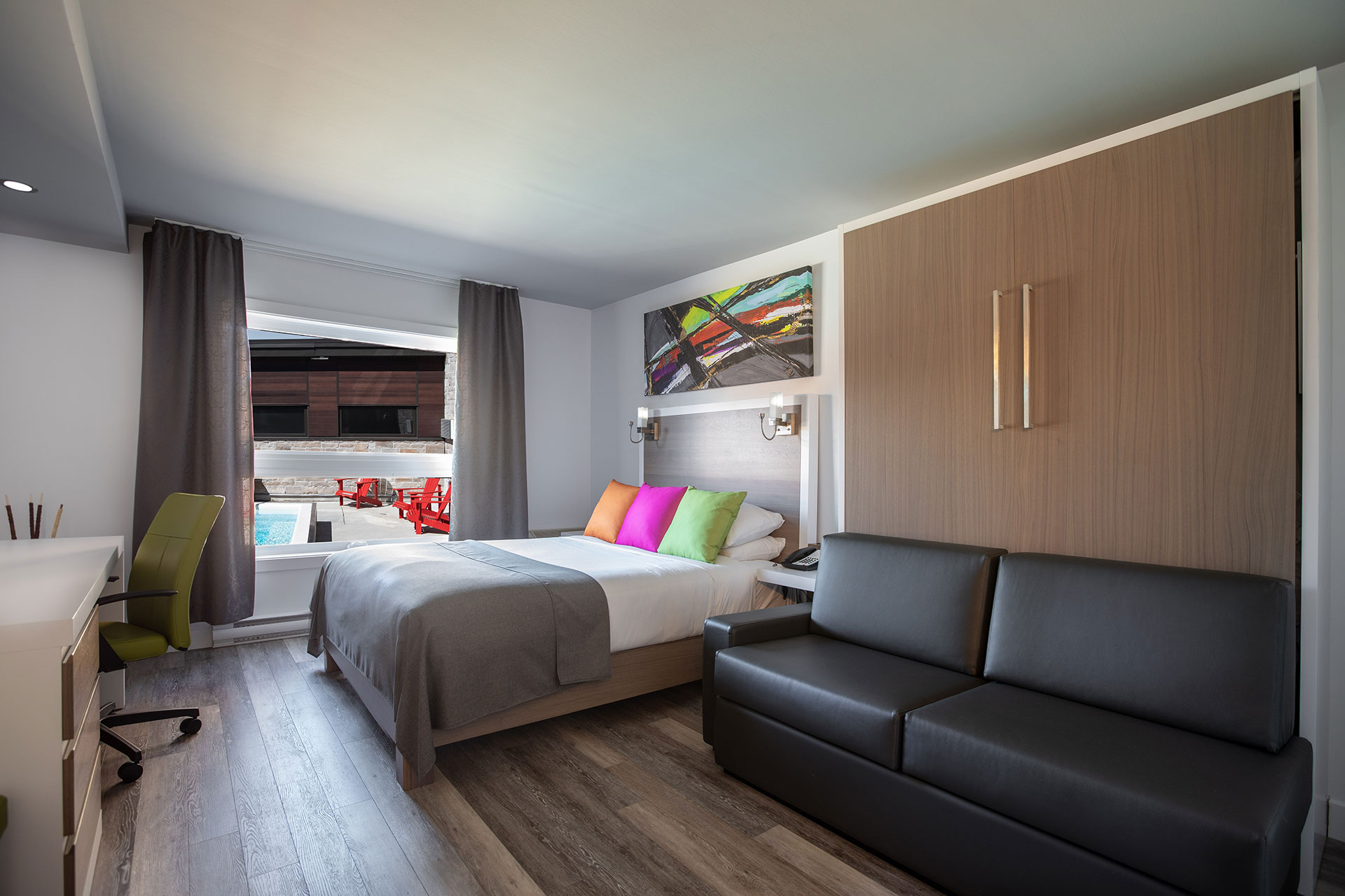 Exécutive 1 lit queen 1 lit double mural hotel v gatineau